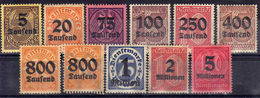 DR Dienstmarken 1923, Mi D 89-98 * (Mi 95 X+Y) [100617StkKV] - Dienstzegels