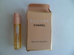 Tigette Ou  Tube De Parfum De Collection Echantillon 2 Ml   - Eau De Toilette -  Allure De CHANEL - Miniatures Modernes (à Partir De 1961)
