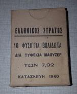 Boite De 7.92 Mm Grec 1940(VIDE) - Armes Neutralisées
