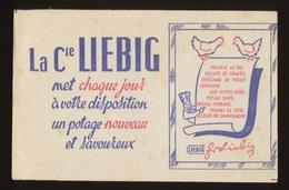 Buvard  -  Consommé De Poulet - LIEBIG - Bleu - Potages & Sauces