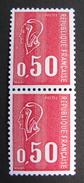 LOT R1631/1558 - MARIANNE DE BEQUET (Paire)  N°1664 - NEUFS** AVEC NUMERO ROUGE AU VERSO - Cote : 25,30 € - 1971-76 Marianne (Béquet)