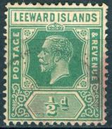 LEEWARD ISL. 1921 KGV ½d. Blue-green, Wmk Mult Script CA, Die II, VF Used, MiNr 59II, SG 5 - Stamps