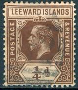 LEEWARD ISL. 1912 KGV ¼d. Brown, Wmk Mult Crown CA, Die I, VF Used, MiNr 46, SG 46 - Stamps