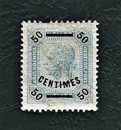 Uffici Postali Austriaci A CRETA 1903 - Effigie Di Francesco Giuseppe I - 50 C Su 50 C. Azzurro Grigio - MH - Mi:AT-CT 4 - Oriente Austriaco