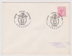 Enveloppe Cover Brief 859 Derde Wings Festival Aviation Koksijde - Cartas