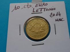 10  CENTIMES  EURO  LETTONIE  2014 Unc  ( Livrée Sous étui H B ) - Lettonie