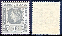 LEEWARD ISL. 1954 QEII 1c. Grey, XF MNH, MiNr 118, SG 127 - Stamps
