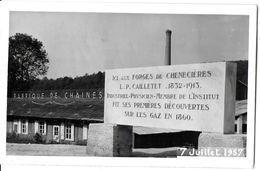 SAINT MARC SUR SEINE COTE D'OR 21 PLAQUE COMMÉMORATIVE  FORGES DE CHENECIERES  JUILLET 1957 - Places