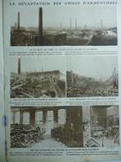Militaria W1 , La Dévastation Des Usines D'Armentiéres Tissages Ruyan , Villard Et Colombier , Magasin Mahieu 1915 - Documents Historiques