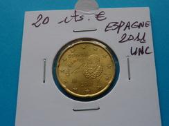 20  CENTIMES  EURO  ESPAGNE  2011 Unc  (  Livrée Sous étui H B - 2 Photos  ) - España