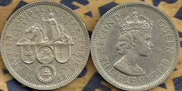 BRITISH CARIBBEAN TERRITORIES 50 CENTS BRITTANIA EMBLEM FRONT QEII HEAD BACK 195 VF KM ? READ DESCRIPTION CAREFULLY !!! - Monnaies