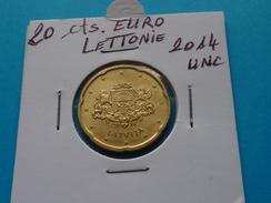 20  CENTIMES  EURO  LETTONIE  2014 Unc (  Livrée Sous étui H B - 2 Photos  ) - Lettonie