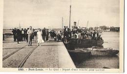 PORT LOUIS - Le Quai - Départ D'une Vedette Pour Lorient -  1855 - Port Louis