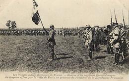 Ref U296- Guerre 1914-18- Les Troupes Tcheco Slovaques En France - Tchequie - Slovaquie    - Carte Bon Etat  - - Weltkrieg 1914-18