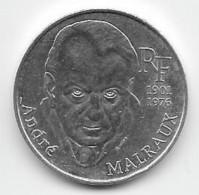 Pièce De 100 F Argent  André Malraux - 1997 - France