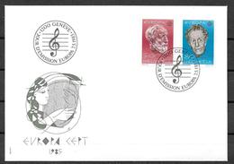 Schweiz FDC 1985  MiNr. 1294 - 1295  Europa - FDC