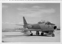 Photo Originale Avion F100Sabre Canadien (18cm X 13cm)  (bon Etat) - 1946-....: Moderne