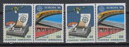 GREECE Yvert 1665-68 - ** MNH -  Europe CEPT  (1988) – Communication & Transport - Unused Stamps