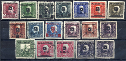 YUGOSLAVIA 1918 SHS (Bosnia) Portrait Definitives Used.  Michel 33-50 - 1919-1929 Kingdom Of Serbs, Croats And Slovenes