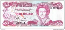 Bahamas - Pick 44 - 3 Dollars 1984 - Unc - Bahamas