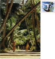 SEYCHELLES  Village Road On La Digue Island  Nice Stamp  Bird Theme - Seychelles