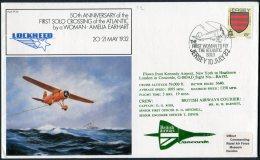 1982 Jersey Royal Air Force Flight Cover RAF FF38. CONCORDE British Airways, Amelia Earhart, Lockheed New York, USA - Concorde