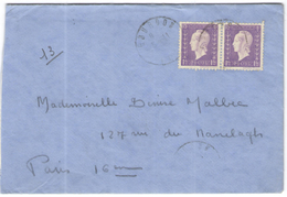 FRANCIA - France - 1945?? - 2 X 1F - Viaggiata Da Gourdon Per Paris - Francia