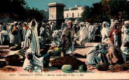 Algérie - Scènes Et Types - Marché Arabe Dans Le Sud - Scènes & Types