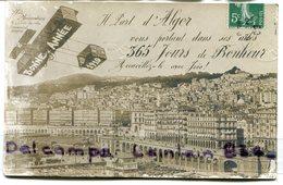 - Il Part D' ALGER - Le Port, 365 Jours De Bonheur, Bonne Année, écrite, Pour Tunis, BE,  Scans. . - Alger