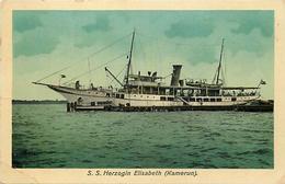 Ref U250- Cameroun - Carte Allemande - Allemagne -bateaux - Bateau Herzogin Elizabeth - Kamerun   - - Cameroun