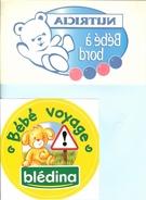 """HB-A 102 Lot De 4 Autocollants """"Bébé à Bord"""" - Stickers"""