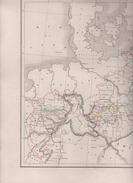 CARTE PHYSIQUE ET POLITIQUE DE LA PRUSSE DRESSEE PAR L DUSSIEUX 1845 - Landkarten