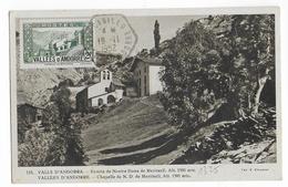 1952 - ANDORRE - YT 82 Sur CARTE MAXIMUM De CANILLO - Maximumkarten (MC)