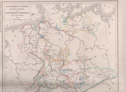 CARTE PHYSIQUE ET POLITIQUE DES ETATS SECONDAIRES DE LA CONFEDERATION GERMANIQUE DRESSEE PAR L DUSSIEUX 1846 - Landkarten