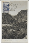 1954 - ANDORRE - YT 75 Sur CARTE MAXIMUM De ST JULIEN DE LORIA - Maximumkarten (MC)