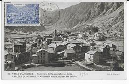 1952 - ANDORRE - YT 113 Sur CARTE MAXIMUM De ANDORRE LA VIEILLE - Maximumkarten (MC)