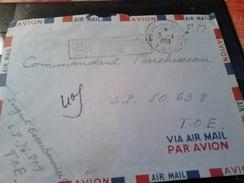 Lettre Cachet TOE OSTES AUX ARMEES 1953  Cachet Rectangulaire Bleu Mal Frappé TOE  Le Vaguemestre   SP 76809 - Sellos Militares Desde 1900 (fuera De La Guerra)