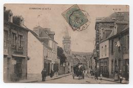 COMBOURG (Ille Et Vilaine. 35 ) - La Grande Rue - Voyagée - Animée - V.D.77 - Cachet Convoyeur - Etat Moyen. - Combourg