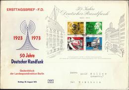 Germany Berlin 1973 / 50 Jahre Deutscher Rundfunk / Radio, Broadcasting, TV - Telecom