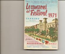 1-LIBRETTO LE CAZONI DEL FESTIVAL 1971-SANREMO - Music & Instruments