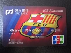 China Invalided JCB Credit Card,logo Of Barcelona Football Club,platinum - Geldkarten (Ablauf Min. 10 Jahre)