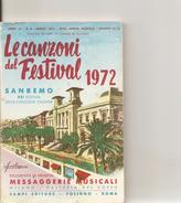 1-LIBRETTO LE CAZONI DEL FESTIVAL 1972-SANREMO - Music & Instruments