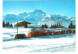 Schweiz - Villars Chesieres - Alpes Vaudoises - Le Train Villars - Bahn Zug - Nice Stamps - VD Waadt