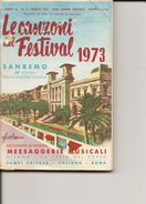 1-LIBRETTO LE CAZONI DEL FESTIVAL 1973-SANREMO - Musica & Strumenti