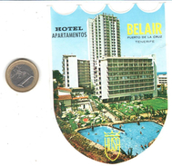 ETIQUETA DE HOTEL  - HOTEL APARTAMENTOS BELAIR  -PUERTO DE LA CRUZ - Hotel Labels