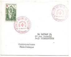 OBLITERATION CONGRES NATIONAL DE SECOURISME CROIX ROUGE à TOURS INDRE ET LOIRE 1971 - Marcophilie (Lettres)