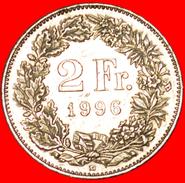 § WITH STAR: SWITZERLAND ★ 2 FRANCS 1996B! LOW START★ NO RESERVE! - Svizzera