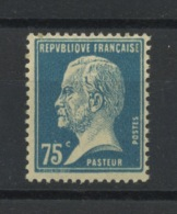 FRANCE- TYPE PASTEUR 75c Bleu- N° Yvert 177** - 1922-26 Pasteur