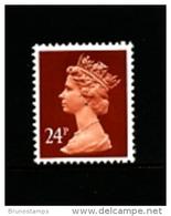 GREAT BRITAIN - 1989  MACHIN  24p.  PCP  MINT NH  SG  X968 - Machins