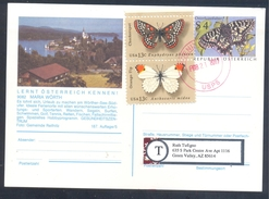 Austria österreich 1989 PS Card MAria Wörth Butterfly Schmetterling Papillon Mariposa Farfalla Osterluzeifalter; USA - Schmetterlinge